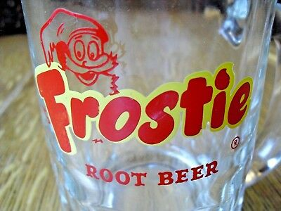 Vintage FROSTIE ROOT BEER SODA Heavy Glass Collectible Mug - MAN CAVE GIFT CUP!!