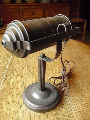 Art Deco  Machine Age Bankers / Piano / Desk Lamp Usa