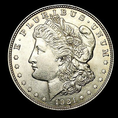 1921 D ~**ABOUT UNCIRCULATED AU**~ Silver Morgan Dollar Rare US Old Coin! #885