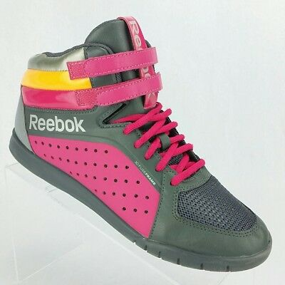 e678c28bb1a Reebok UrLead Mid 2.0 V52444 High Top Grey Pink Dance Sneaker Shoes WOMENS  8.5
