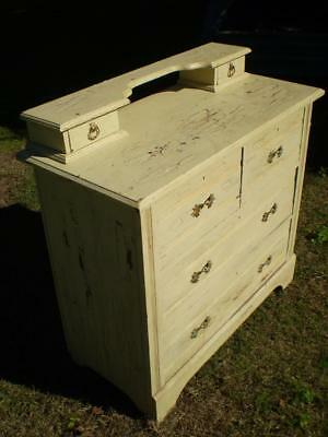 Vintage 6 draw country style dresser painted and aged solid huen pine or cedar ?