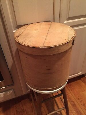 Vintage Round Wood Cheese Box