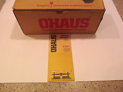 Ohaus School Balance Scale – 1200-00 – EUC – 2 Sets of Brass Weights