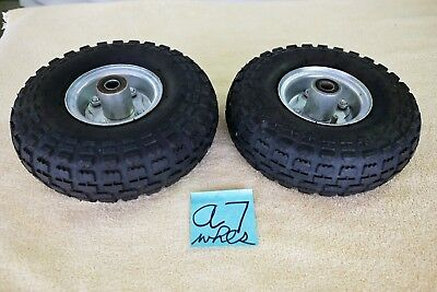 Utility, go cart, kart, wheels & tires 4.10/3.50-4 knobby, lawn, mud, all season
