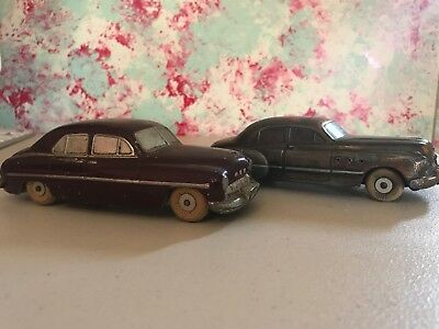 Vintage 1949 National Products Buick Super and 1949 Mercury Scale Model 2 cars