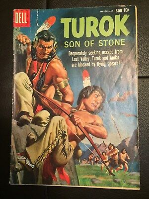 Turok Son of Stone #19 Very Nice Early Issue Silver Age Dell Comic 1960