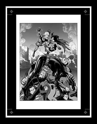 Brian Bolland Superman And Batman Worlds Funniest Rare Production Art Cover