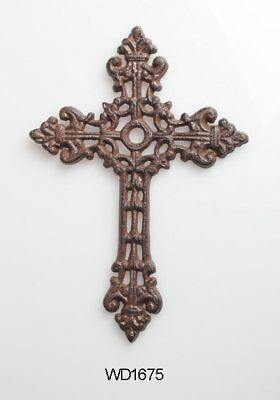 Cross Cast Iron Wall Decor  Christian  Rustic Decorative Vintage X Hanging