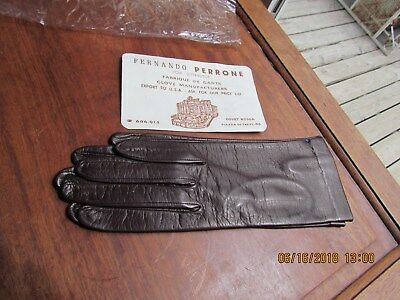 Vintage Fernando Perrone Leather Gloves New old stock