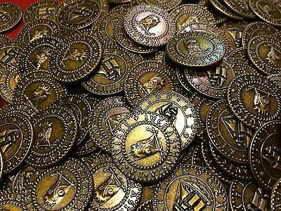 Pirate Treasure Coins - LOT OF 100 - Great for Kids / Party / Doubloons