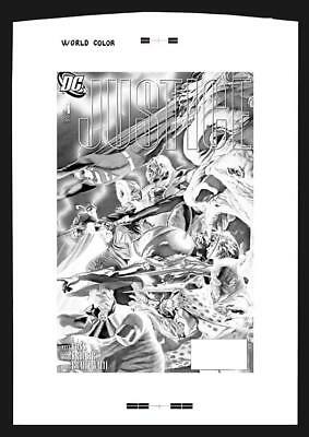 Alex Ross Justice #1 Rare Large Production Art Cover