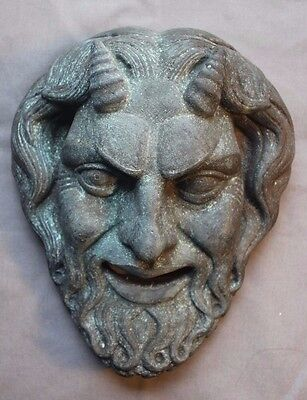 Greek Roman Satyr Mask devil Copper Plaque gothic Dionysus Centaur oddity