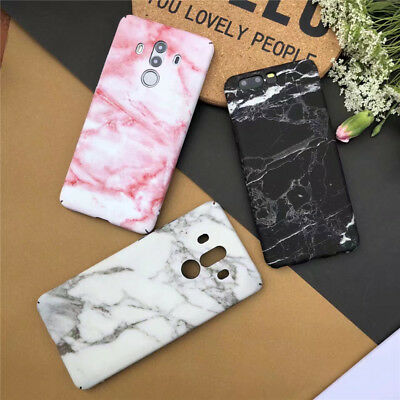 For Huawei Mate 10 Pro Cute Stylish Granite Marble Stone Effect Full Hard Case