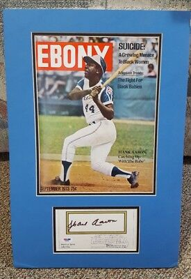 Henry Hank Aaron September 1973 Ebony Magazine w/ PSA Signed Autograph