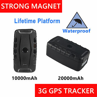 Portable Long Life 3G GPS Tracker Waterproof Magnet Anti Theft Car Live Tracking