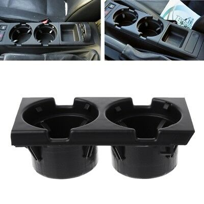 Plastic Black Front Center Console Drink Bottle Cup Holders For BMW E46 3Series