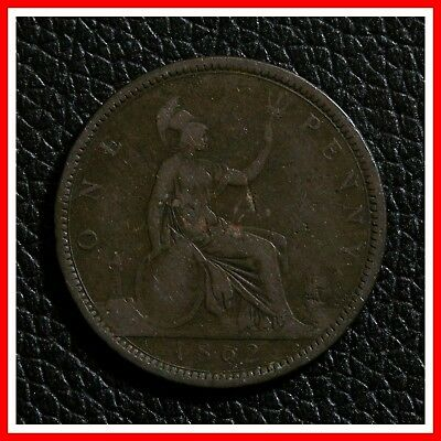 1862 Great Britain Large One Penny