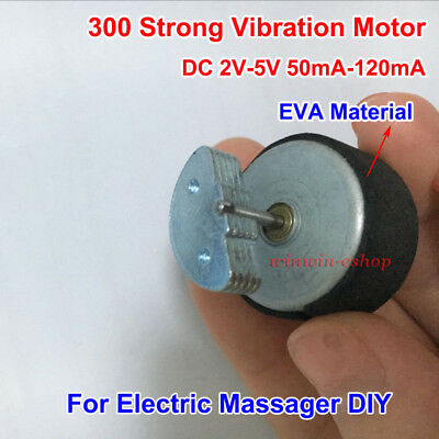 Micro Round 300 Vibration Motor DC 3V-5V 120mA for Electric Massager Toy DIY