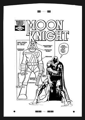 Bill Sienkiewicz Moon Knight #19 Rare Large Production Art Cover