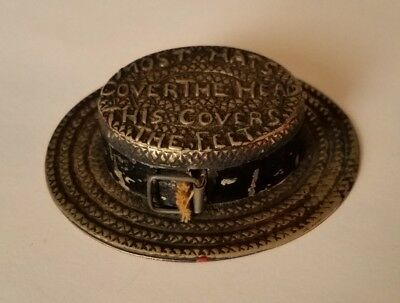 Victorian Measuring Tape Straw Hat