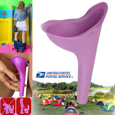 US Soft Silicone Outdoor Travel Female Urine Lady Urinal Funnel Urination Device