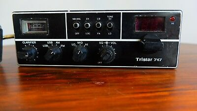 Tristar 747 Upper and lower side band AM FM CB Radio High Quality Vintage Rare