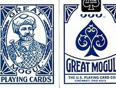 Great Mogul [Bee Seconds] Playing Cards Deck Standard Index Blue.