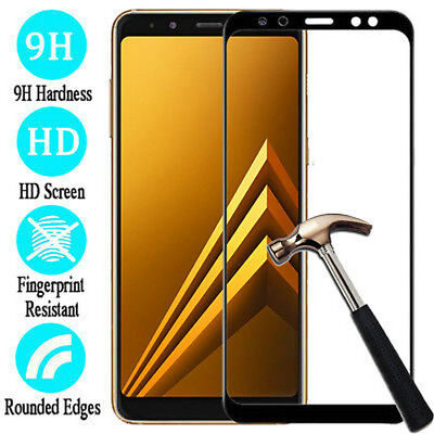For Samsung Galaxy A6/A8/A8 Plus 9H Full Cover Tempered Glass Screen Protector