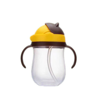 Child Feeding Drinking Water Straw Handle Bottle Sippy Training Baby Cup Cute