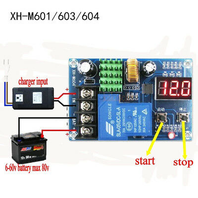 12V/24V 6/60V Battery Charging Control Board Charger Power Supply Switch Module~