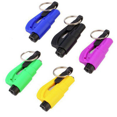 Emergency Safety Hammer Escape Car Window Glass Breaker Keyring Seat Belt Cutter