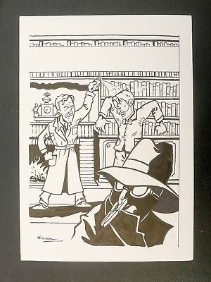 STERNIC couverture hommage Jacobs Blake Mortimer parodie A3