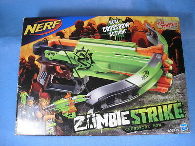 NEW Nerf Zombie Strike Crossfire Bow Gun Blaster Hasbro, in factory sealed box
