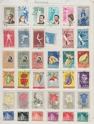 ROMANIA Collection Opera Olympics Vegetables Flowers etc USED ,as per scan #