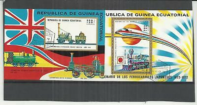 Equitoral Guinea 1972 Railways Mini Sheet's (2) CTO