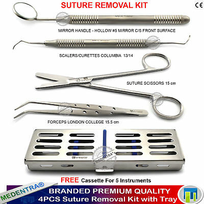 MEDENTRA® Suture Removal Practice Kit Stitch Scissors Tissue Forceps with Tray