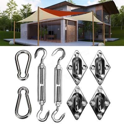8x Triangle Sun Shade Sail Awning Stainless Steel Hardware Installation Kits