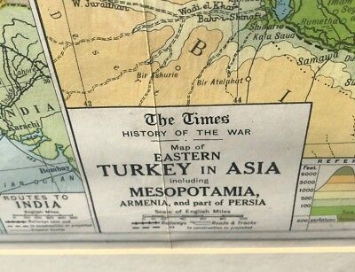 The Times Map Of Eastern Turkey In Asia Including Mesopotamia,armenia And Part O