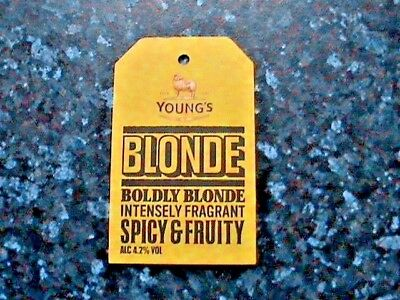 Young's Blonde Beer Pump Clip Sign