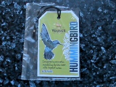 Youngs Hummingbird Beer Pump Clip Sign