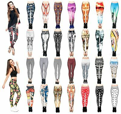 Kukubird Various Print Stretchable Women's Gym Fitness Leggings