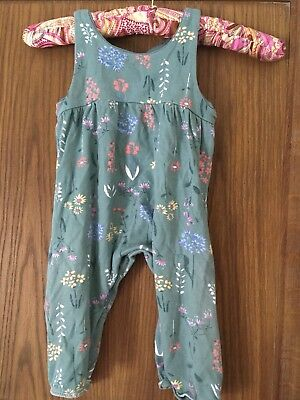 nutmeg baby girl 9-12 months jumpsuit gorgeous flowers