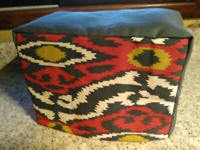Toaster Cover Abstract Burgundy Gold Cream Fabric Quilted 4 Slice