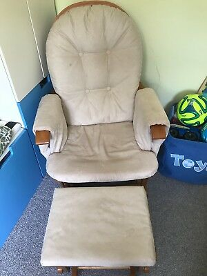 Cream glider chair and footstool