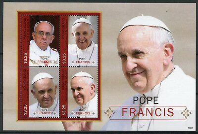 Young Island Grenadines St Vincent 2013 MNH Pope Francis 4v M/S Popes Stamps