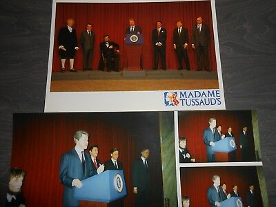Madame Tussards Presidents Of The United States Postcard With Photograph