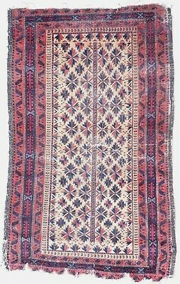 Tapis ancien rug oriental orient tribal ethnique Persan Perse Baluch 1900