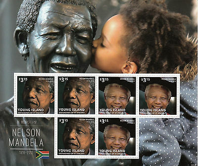 Young Island Gren St Vincent 2013 MNH Nelson Mandela 6v M/S III Stamps