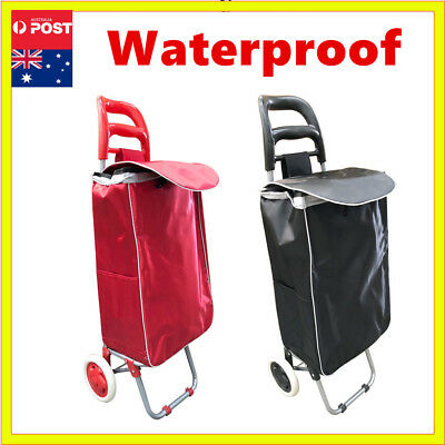 Shopping Market Waterproof Luggage Cart Bag Basket Wheels Trolley Foldable