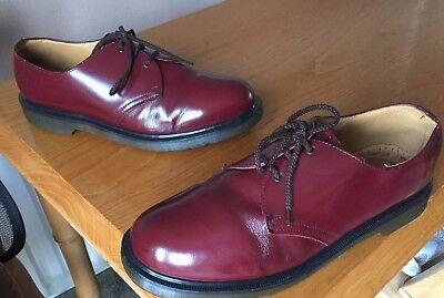 Vintage Dr Martens 1461 cherry smooth leather shoes UK 11 EU 46 Made in England